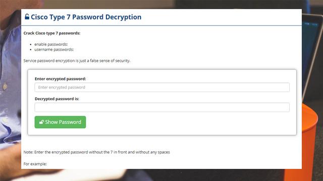 Cisco Type 7 Password Decryption