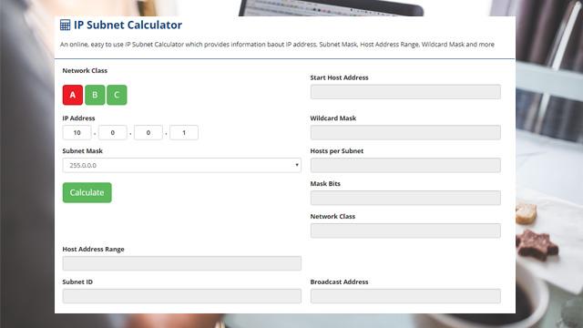 Online IP Subnet Calculator