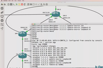GNS3 Labs: DMVPN, IPsec and NAT across BGP Internet routers