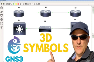 GNS3 Custom 3D Symbols and Templates like Cisco icons: CCNA | Python | Networking