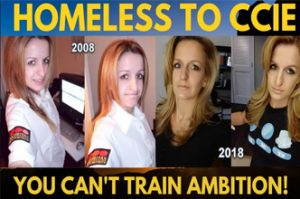 Homeless security guard to CCIE: You can't train ambition: Katherine McNamara shares her story