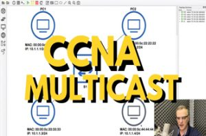 CCNA multicast quiz question: How will multicast traffic flow in the network? CCNA | CCNP