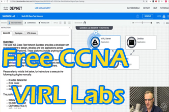 Free CCNA VIRL Labs! Free VIRL Server from DevNet! Labs for CCNA | CCNP | Python | Ansible