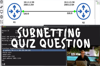 CCNA Quiz: IP Subnetting. Can you answer this question? CCNA Quiz Questions