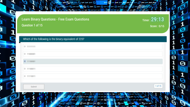 Learn Binary Questions - Free Exam Questions